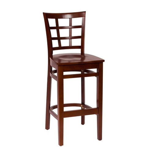 Our Pennington Mahogany Wood Window Pane Barstool - Wood Seat is on sale now.