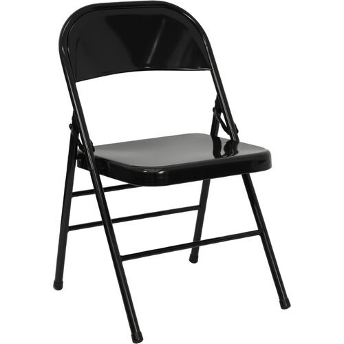 Our HERCULES Series Triple Braced & Double Hinged Black Metal Folding Chair is on sale now.