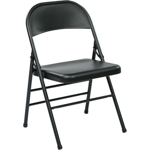 Our Work Smart Folding Chair with Metal Seat and Back - Set of 4 - Black is on sale now.