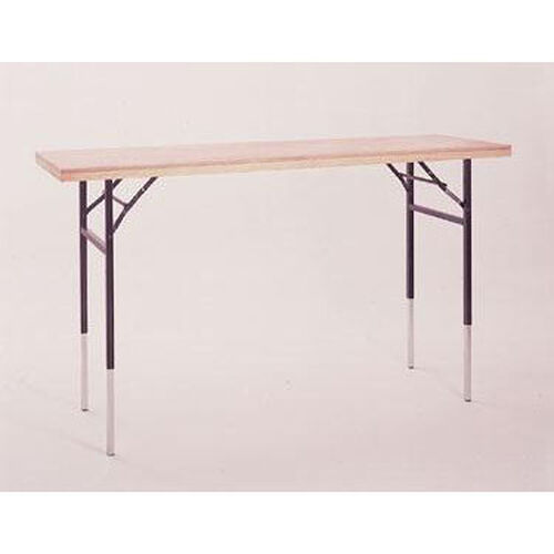 Our Dual Height Display Table with Pine Flush Edge and Plywood Top - 72