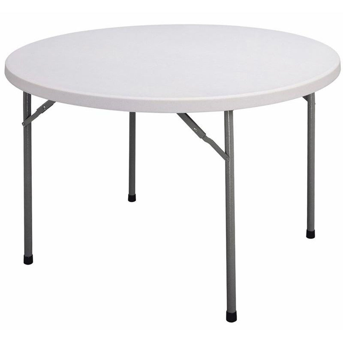 Correll blow molded plastic top round food service table for Table retractable cuisine