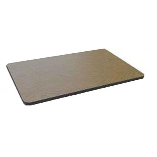 Our Rectangular High Pressure Laminate Table Top with Black T-Mold - 30