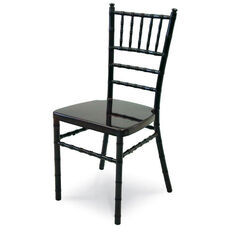 Chiavari 36''H Aluminum Frame Stackable Chair - Black