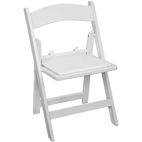 Advantage Kids White Resin Folding Chair