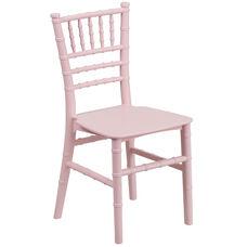 Kids Pink Resin Chiavari Chair