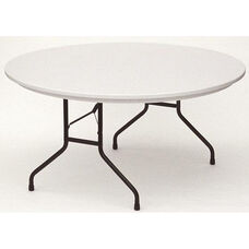 RX-Series Blow-Molded Tamper Resistant Round Folding Table - 60'' Diameter