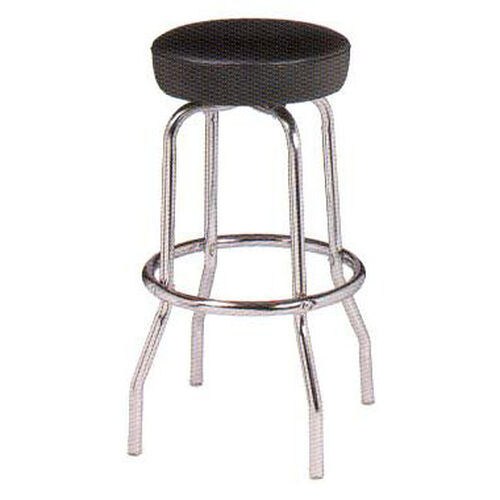 Our Chrome Single Ring Bar Stool with Round Footrest and Seamless Dome Seat is on sale now.