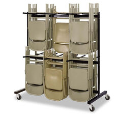 Safco® Two-Tier Chair Cart - 64-1/2w x 33-1/2d x 70-1/4h - Black