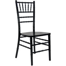 Advantage Black Wood Chiavari Chair