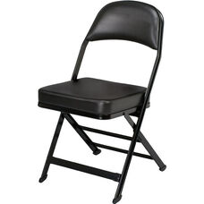 3000 Series Vinyl Upholstered Seat and Back Folding Chair with B Back Style