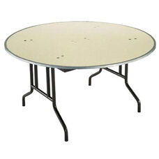 Customizable 810 Series Multi Purpose Round Deluxe Hotel Banquet/Training Table with Plywood Core Top - 66