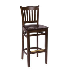 Princeton Walnut Wood School Barstool - Wood Seat