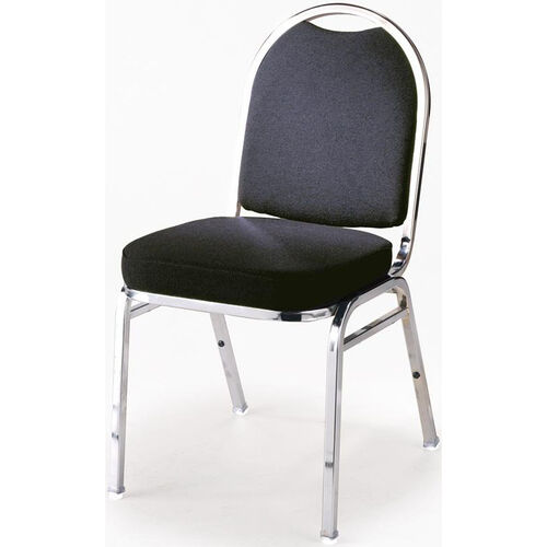 Our 500 Series Stacking Armless Hospitality Chair with Rounded Back and 2