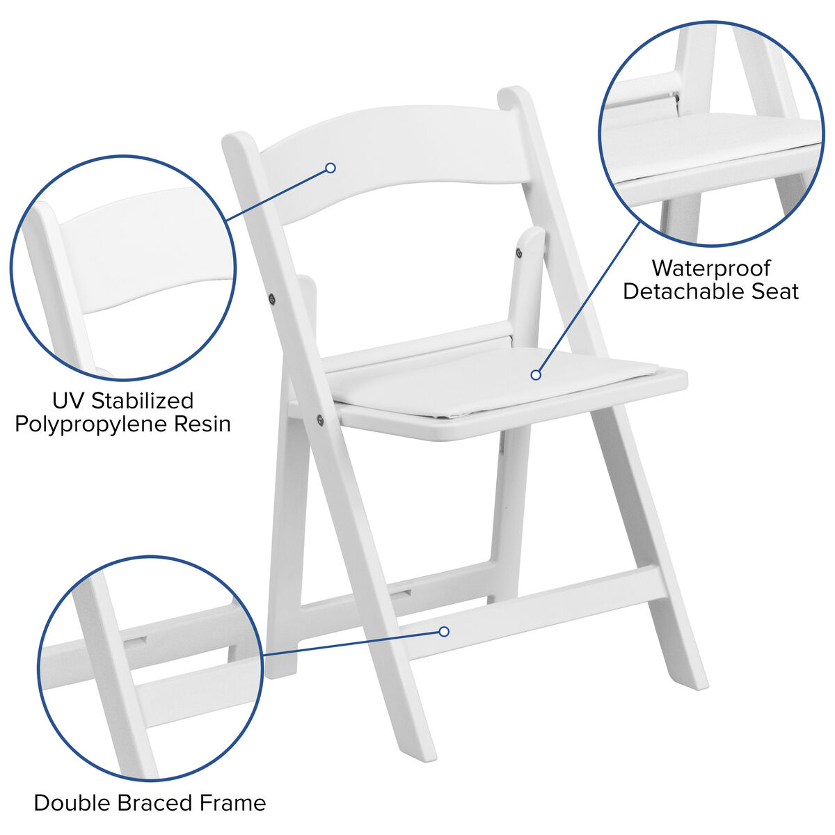 Prime Kids White Resin Folding Chair With White Vinyl Padded Seat Andrewgaddart Wooden Chair Designs For Living Room Andrewgaddartcom