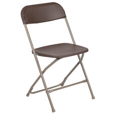 HERCULES Series 800 lb. Capacity Premium Brown Plastic Folding Chair