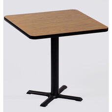 Laminate Top Square Cafe Table with 29''H Cast Iron X-Base - 42''D x 42''W