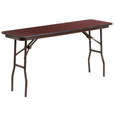 5-Foot High Pressure Mahogany Laminate Folding Training Table