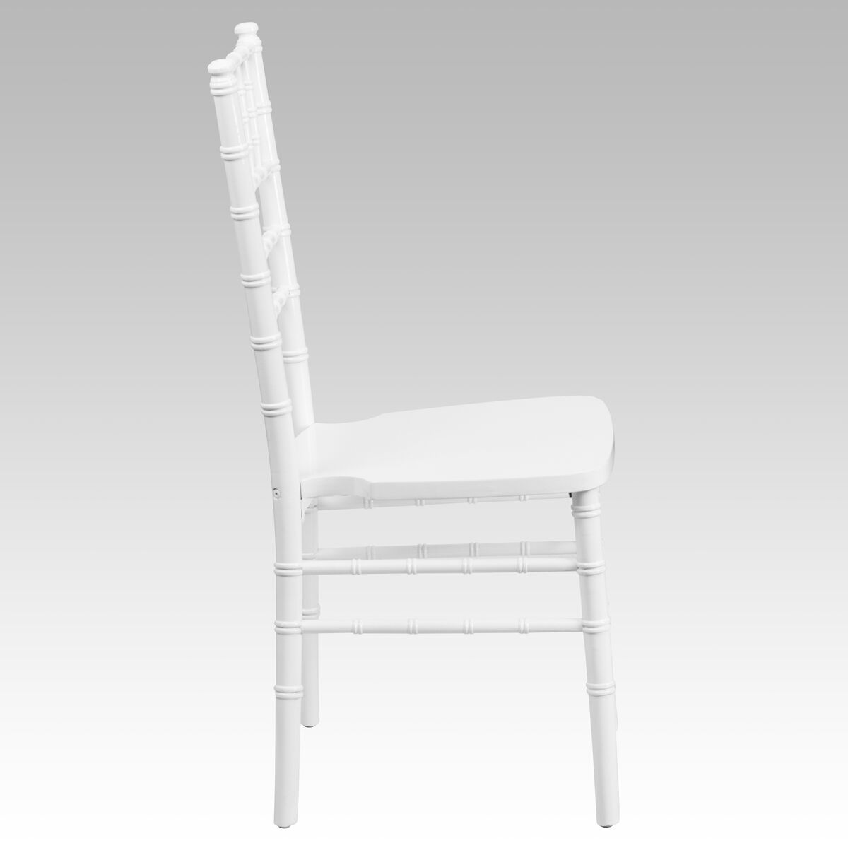 Hercules Series White Wood Chiavari Chair With Free