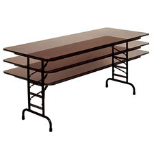 Adjustable Height Rectangular Melamine Top Folding Table - 24''D x 60''W