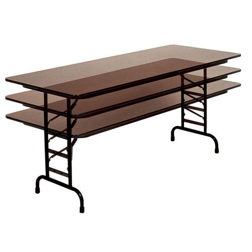 Adjustable Height Rectangular Melamine Top Folding Table - 24