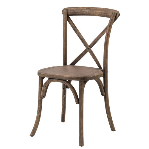 Our Rustic Sonoma Solid Wood Cross Back Stackable Dining Chair - Set of 2 - Dark Walnut is on sale now.