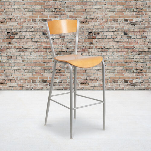 Our Metal Restaurant Barstool with Natural Wood Back & Seat is on sale now.