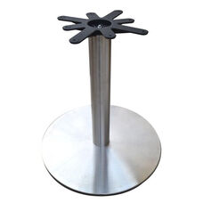 Stainless Steel Round Dining Height Table Base with 28