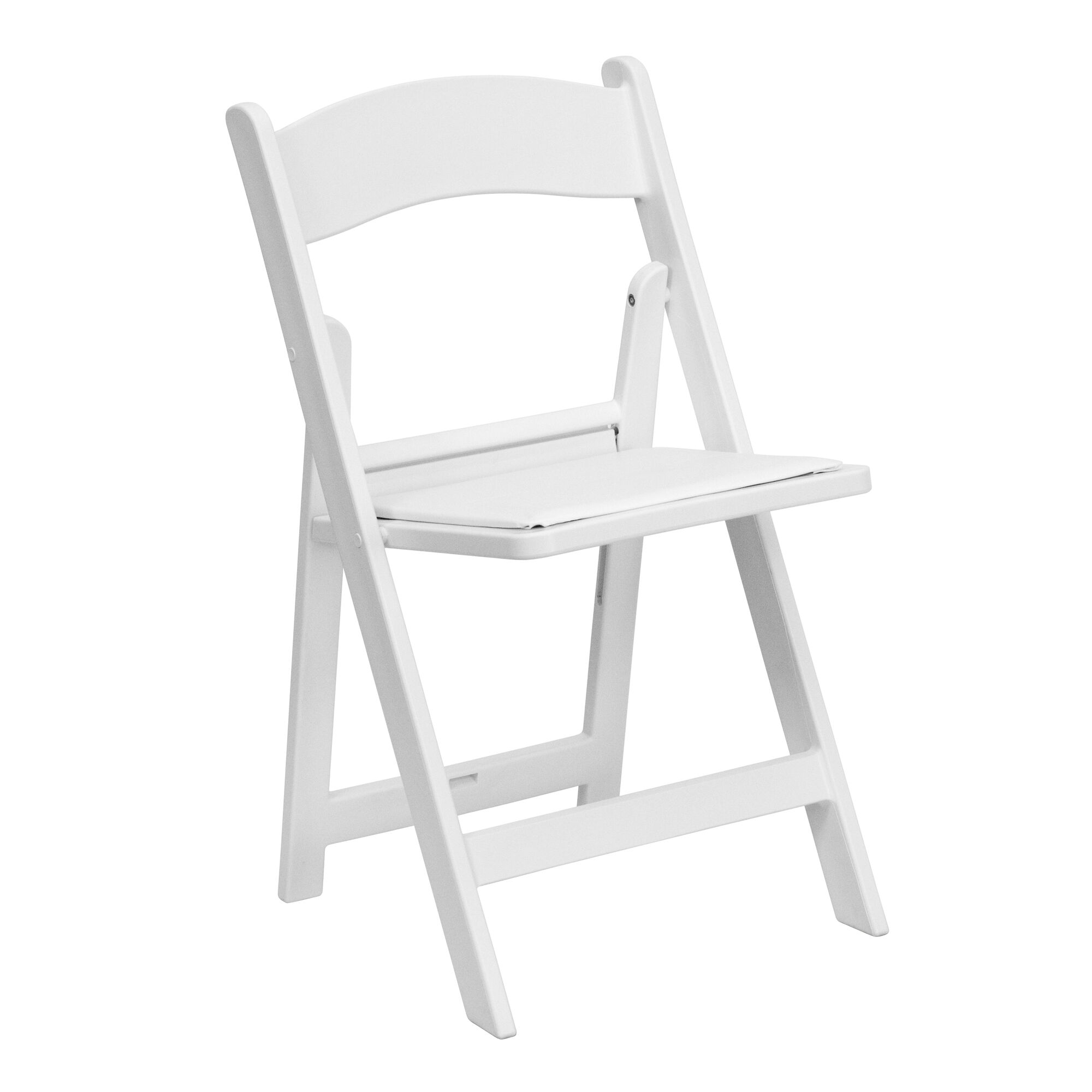 White Resin Folding Chair Le L 1