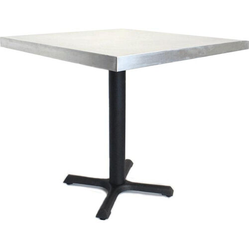Compact Square Zinc Table with Steel Base - 30