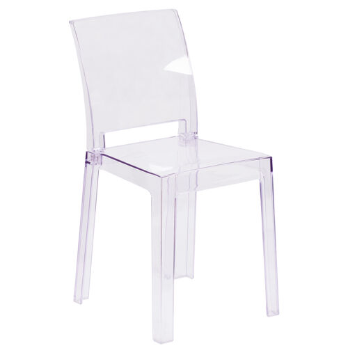 Our Ghost Chair with Square Back in Transparent Crystal is on sale now.