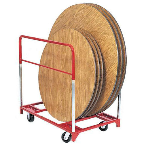 Our Steel Frame Round Folding Table Mover with 5