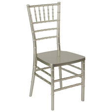 "HERCULES PREMIUM Series Champagne Resin Stacking Chiavari Chair with <span style=""color:#0000CD;"">Free </span> Cushion"