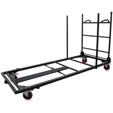 Lorell Rectangular Folding Table Trolley Cart 30''W x 45.3''D x 75.9''H - Charcoal