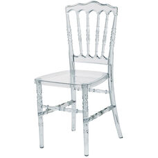 Napoleon Clear Polycarbonate Stackable Chair