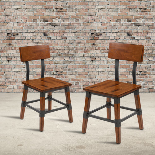 Our 2 Pack Rustic Antique Walnut Industrial Wood Dining Barstool is on sale now.
