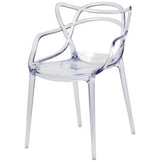 Kids Clear Polycarbonate Baby David Chair with Arms
