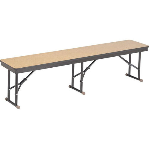 High Pressure Laminate Top Folding Cafeteria Bench with Plywood Core and Rounded Frame Corners - 15