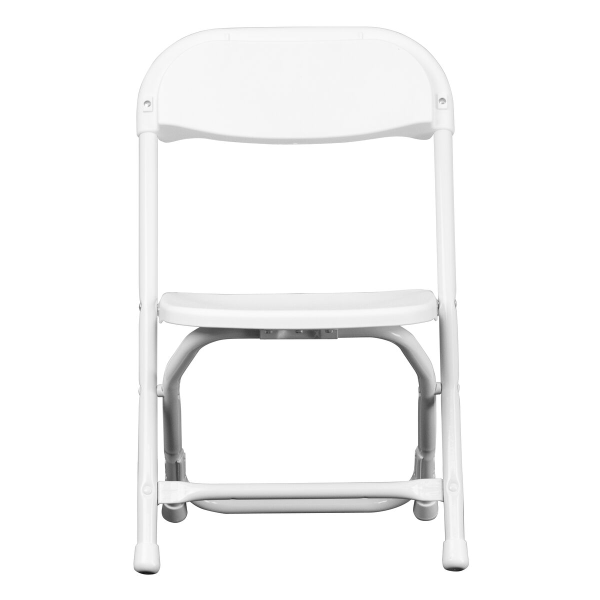 Flash Furniture Kids White Plastic Folding Chair Y Kid Wh