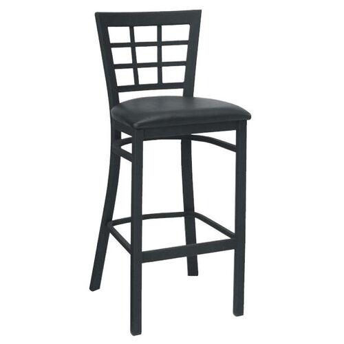 Our Window Back Metal Barstool - Grade 5 Vinyl is on sale now.