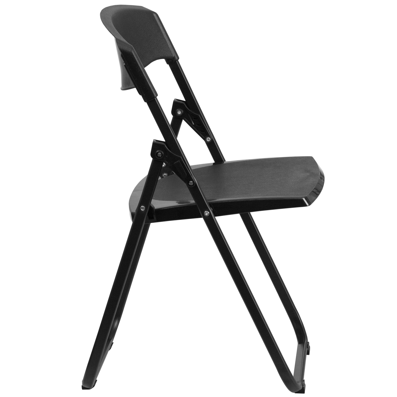 Flash Furniture HERCULES Series 880 Lb. Capacity Heavy Duty Black Plastic  Folding Chair With Built In Ganging Brackets RUT I BLACK GG |  BestChiavariChairs. ...