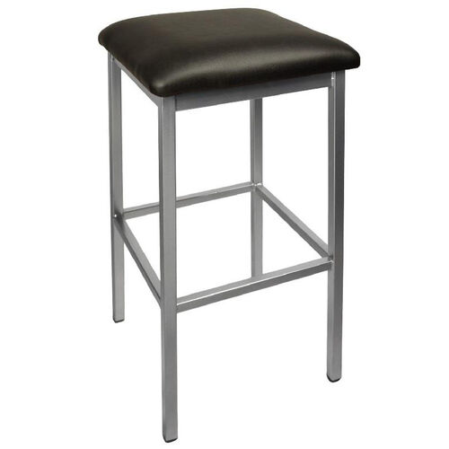 Our Trent Backless Silver Barstool - Black Vinyl Seat is on sale now.