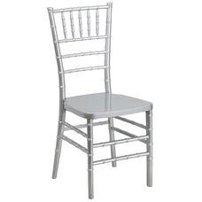 "HERCULES PREMIUM Series Silver Resin Stacking Chiavari Chair with <span style=""color:#0000CD;"">Free </span> Cushion"