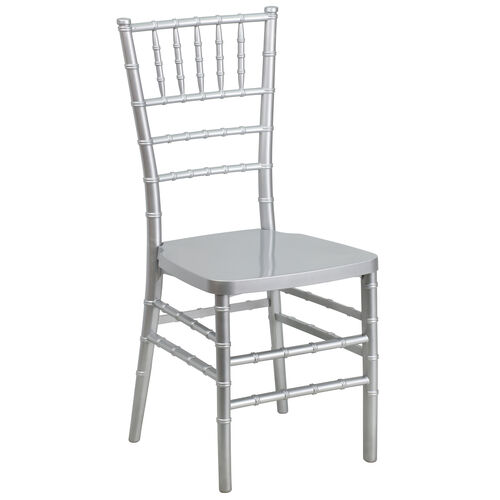 "Our HERCULES PREMIUM Series Silver Resin Stacking Chiavari Chair with <span style=""color:#0000CD;"">Free </span> Cushion is on sale now."