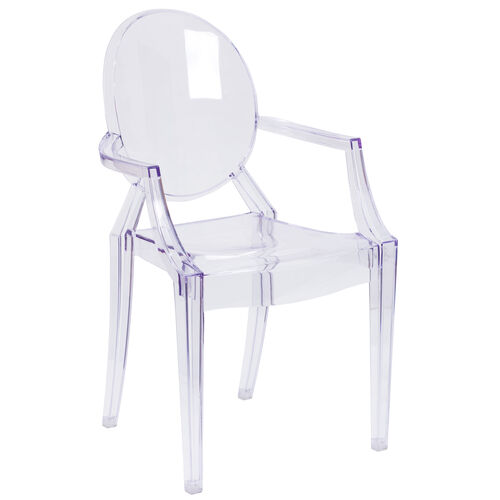 Our Ghost Chair with Arms in Transparent Crystal is on sale now.