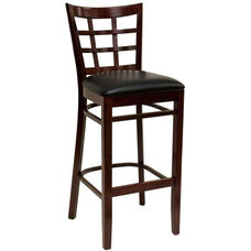 Window Back Barstool - Grade 4 Vinyl