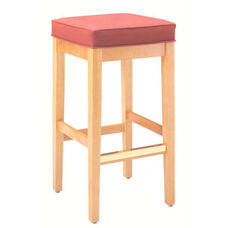 7630 Bar Stool w/ Square Shape Top & Upholstered Seat - Grade 1
