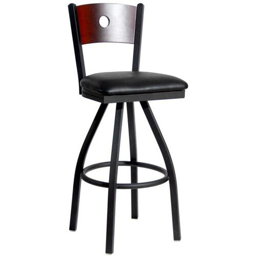 Our Darby Metal Frame Swivel Barstool - Circle Wood Back and Vinyl Seat is on sale now.