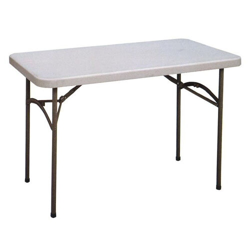 Economy Blow-Molded Rectangular Plastic Top Folding Table - 48