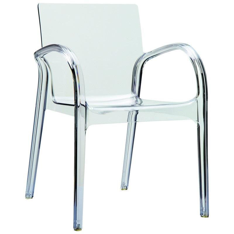 ... Our Dejavu Contemporary Polycarbonate See Through Arm Chair    Transparent Clear Is On Sale Now.
