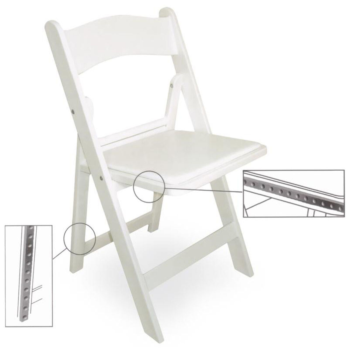 Magnificent Gala Resin Steel Reinforced Stackable Folding Chair With Padded Seat White Uwap Interior Chair Design Uwaporg